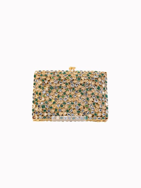The Tri-Colour Multi Gem Formal Clutch Bag Swavo Collection