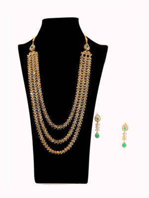 Polki Filagree Layered Malaa Set Swavo Collection