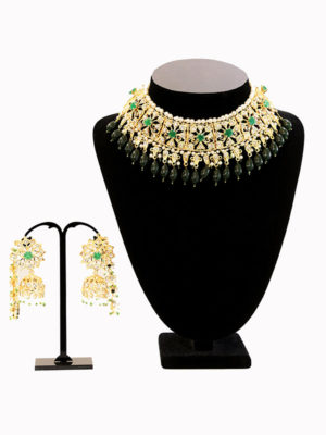 Gold Plated Sitara Choker Set Swavo Collection