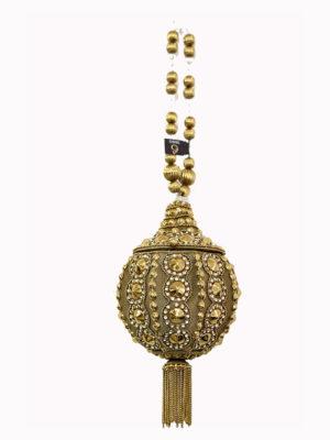 Golden Embellished Ball Handbag Swavo Collection