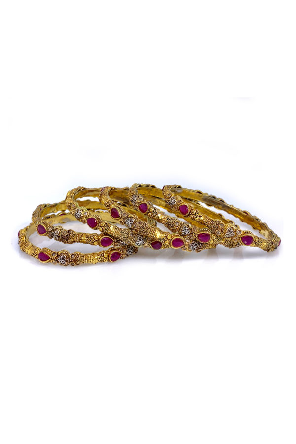Mastani Bangle 6 Piece Set - Swavo Collection