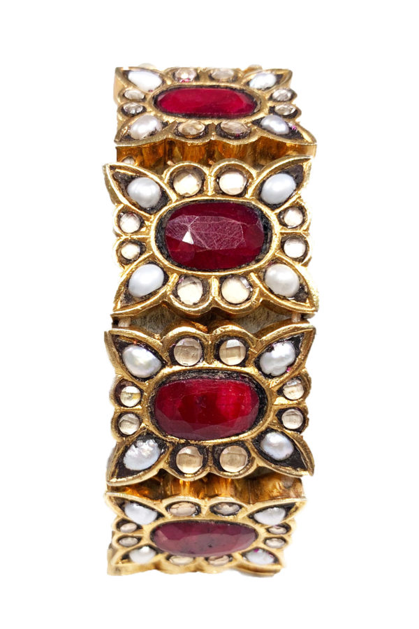 Meena Gold and Pearl Bracelet - Heirloom Collection 2019 Swavo Collection