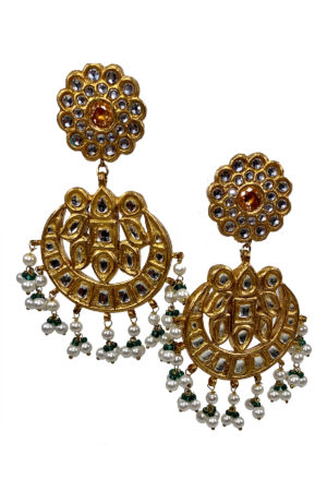 Hydrabadi Bali Gold Plated Earrings - Swavo Collection