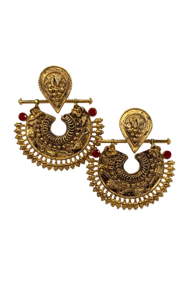 Mahnoor Artisan Gold Earrings - Swavo Collection