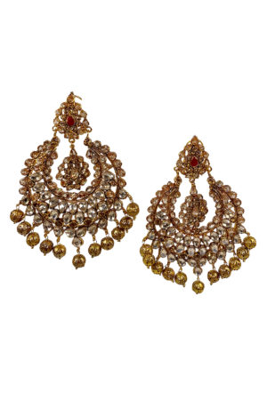 Kiran Gold Ball Earrings - Swavo Collection