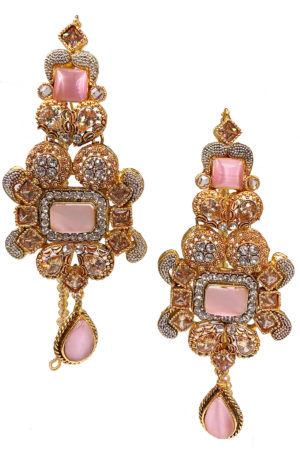 Mehak Encrusted Earrings - Swavo Collection