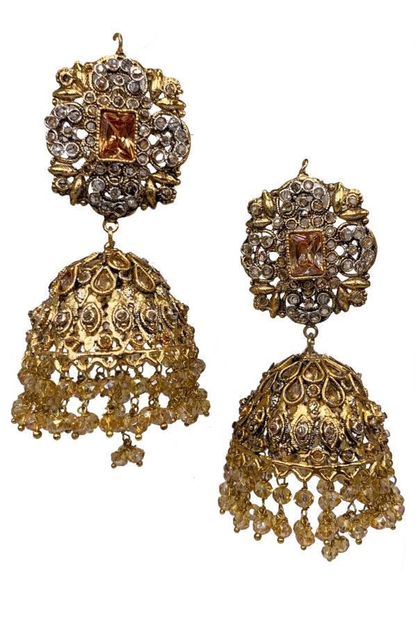 Nayyab Jhumky Earrings - Swavo Collection