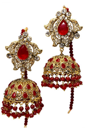 Mastani Jhumky Earrings - Swavo Collection