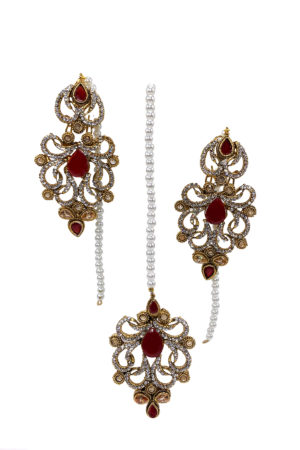 Mastani Earrings & Tikka - Swavo Collection