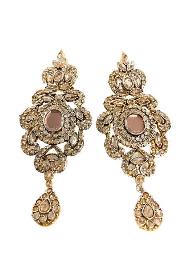 Designer Oval Earrings - Swavo Collection