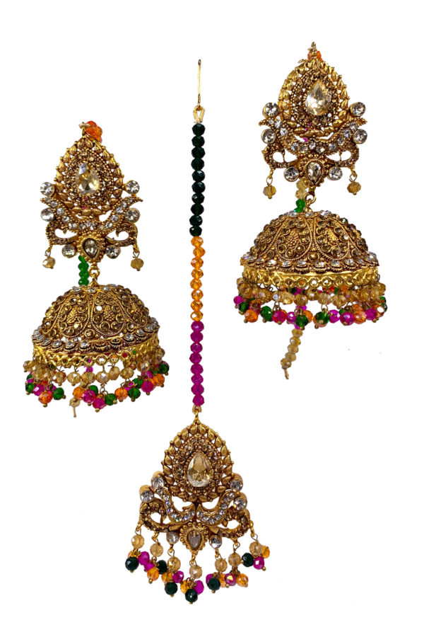 Mastani Jhumky and Tikka - Swavo Collection