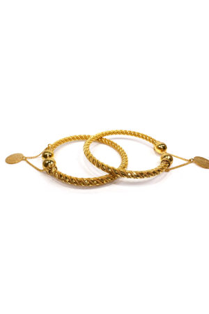 Gold Coin Single Bangle - Swavo Collection