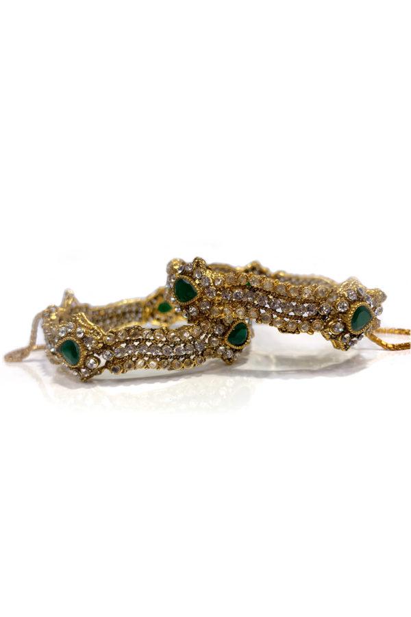 Mastani Antique Gold Karay Pair - Signature PHBCW18 Swavo Collection
