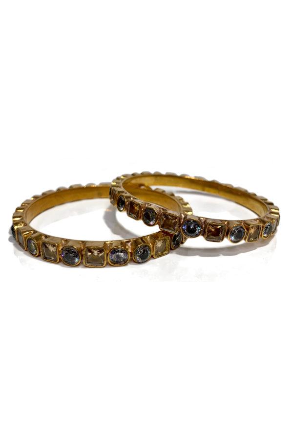 Semi Precious Antique Gold Karay Pair - Swavo Collection