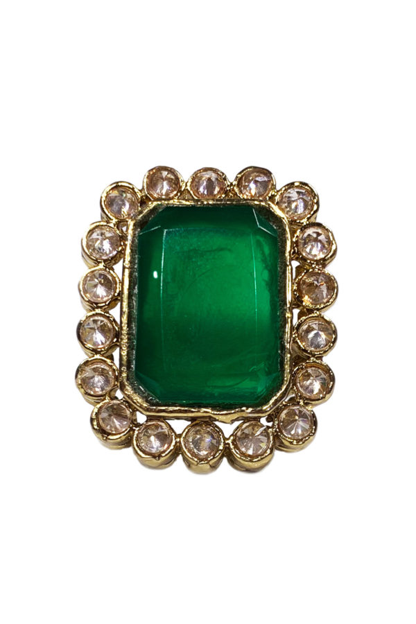 Uncut Statement Square Ring - Swavo Collection