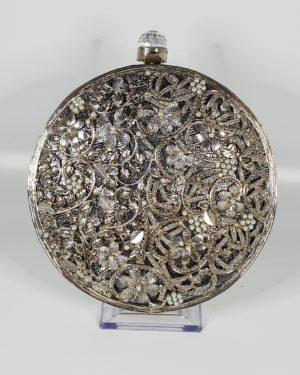 Ivy Pearl Silver Clutch Bag